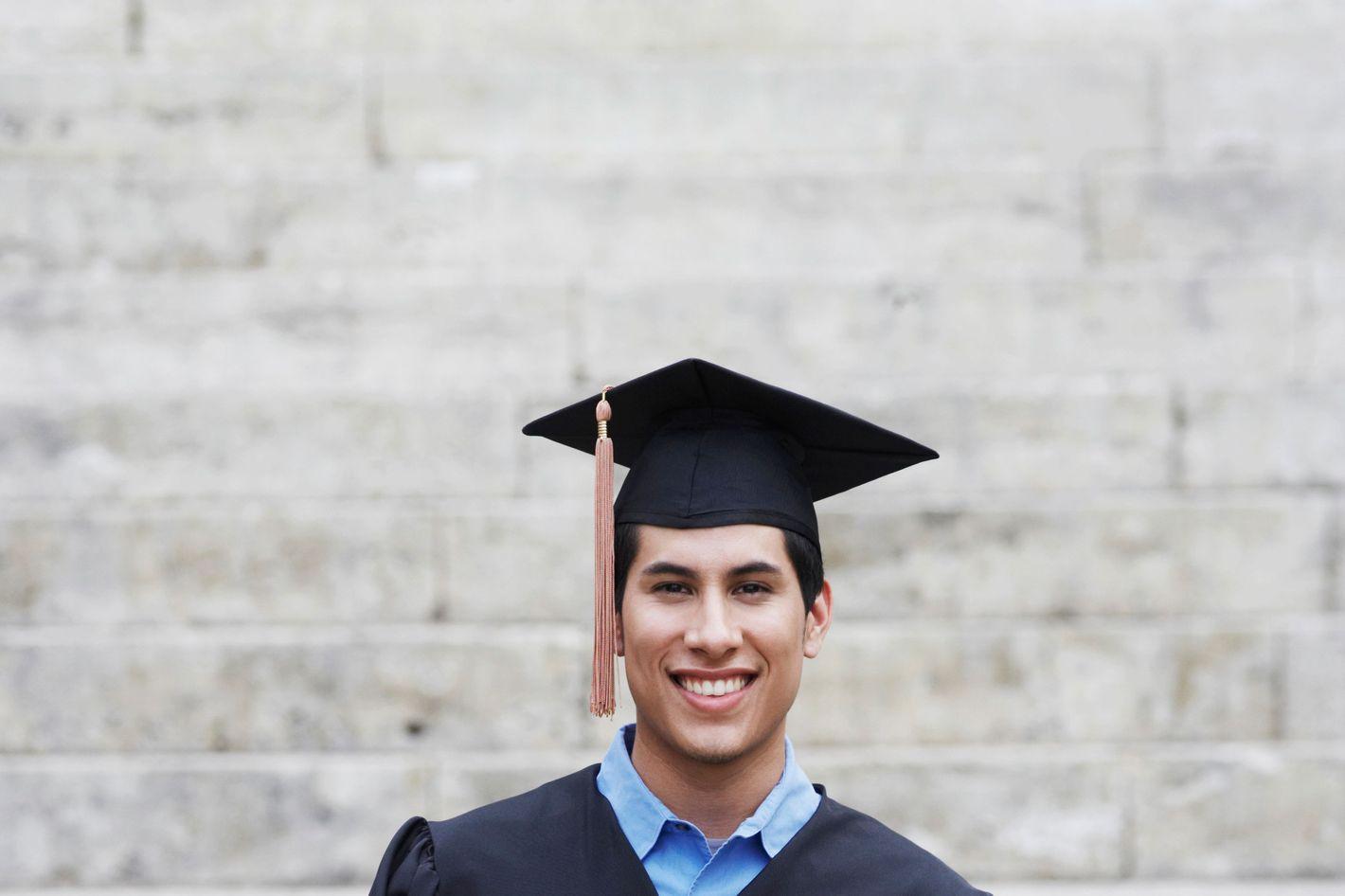 College Graduate Holding Diploma