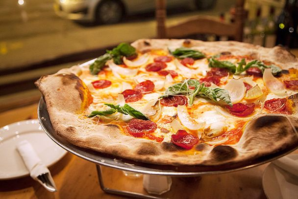 "<b>Pizza Pie</b>    <a href=""http://nymag.com/listings/restaurant/lucali/"">Lucali</a>    <i>Brooklyn</i>  The pies that Mark Iacono turns out from his wood- and gas-powered oven are as tough to pin down as Iacono himself. The thin-but-chewy-crusted pizzas aren't quite Neapolitan, and they aren't classic ""New York"" pizza, either. No matter: They're some of the very best in the five boroughs. Just make sure you call before you go: Iacono can <a href=""http://newyork.grubstreet.com/2012/11/lucali-is-closed-in-carroll-gardens.html"">close shop with little warning</a>. It's open now, but call anyway: You can reserve a spot for yourself and skip the often-very-long lines."