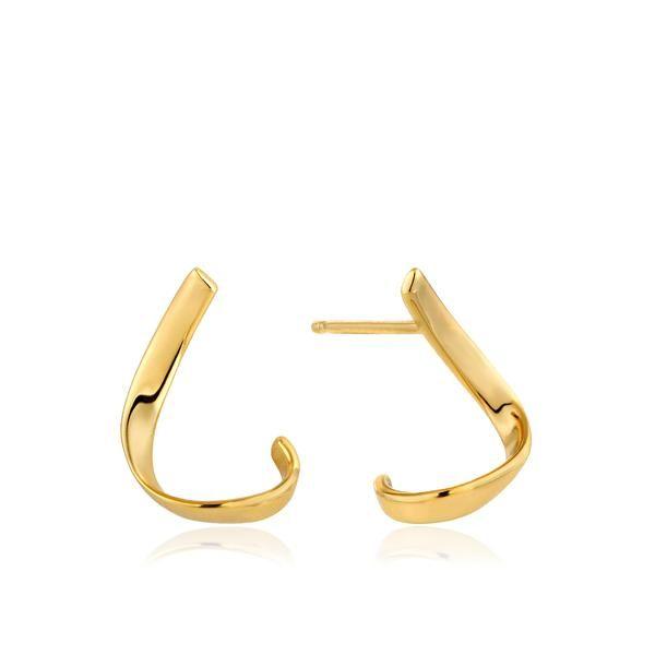 Ania Haie Gold Twist Stud Earrings
