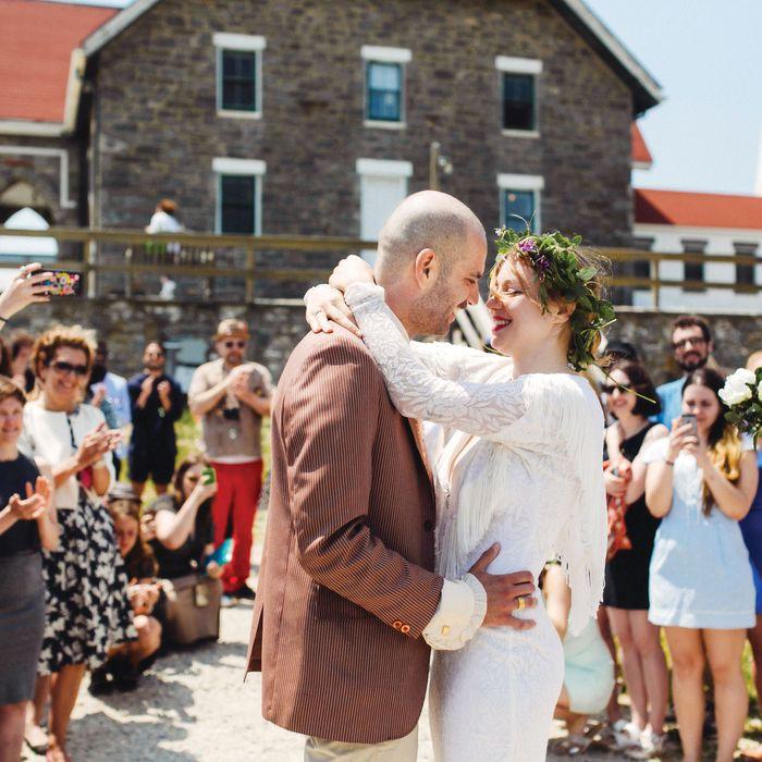 Nicola Donà and Zoë Kiefl married at the Lighthouse on Kismet, Fire Island.