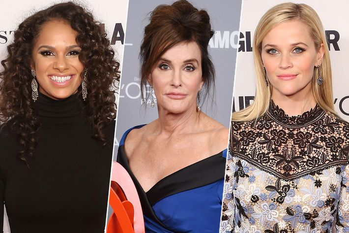 Honorees Misty Copeland, Caitlyn Jenner, and Reese Witherspoon.