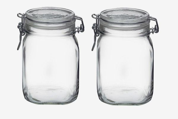 Bormioli Rocco Fido Clear Glass Jar (Pack of 2)