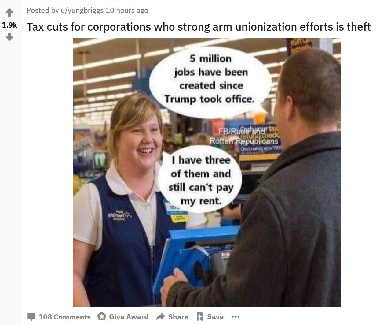 Walmart Employees Post Union Memes To Mess With Corporate
