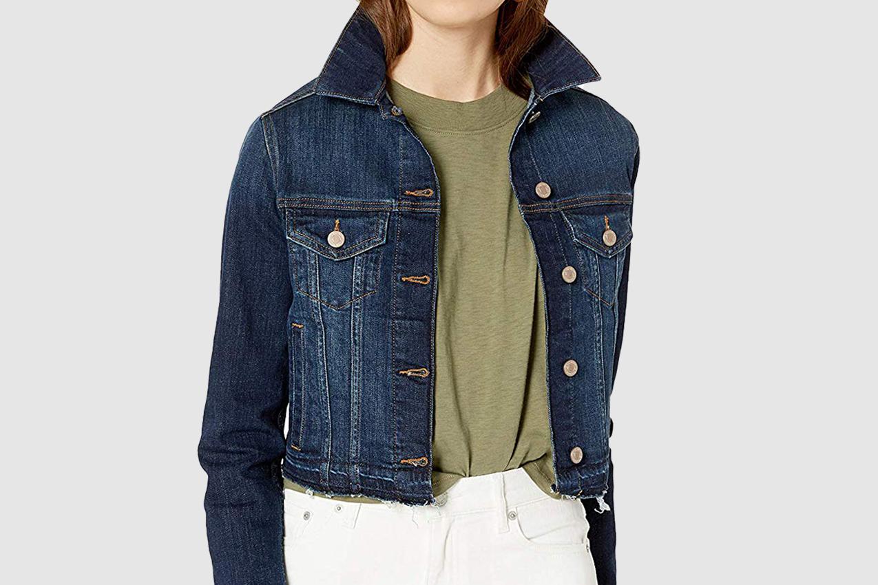 The Drop Women's Downtown Cropped Cutoff Denim Jacket