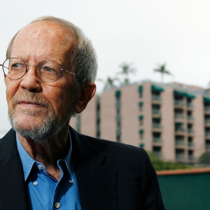 LOS ANGELES - MAY 24: Author Elmore Leonard poses during a portrait session prior to a reading and signing of his latest novel
