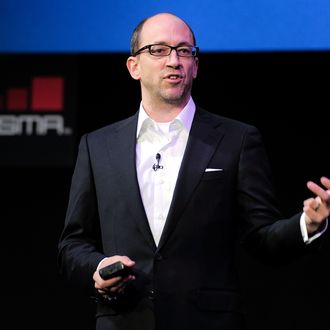 The chief executive officer of Twitter, Dick Costolo speaks on February 14, 2011 during the opening of the 3GSM World Congress in Barcelona. The 2011 Mobile World Congress will be held from February 15 to 17 in Barcelona.