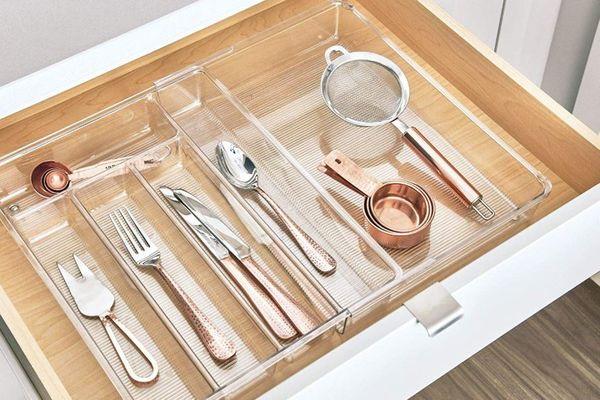 InterDesign iDesign Linus Acrylic Expandable Cutlery Tray