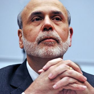 The Chairman of the US Federal Reserve Ben Bernanke testifies before the US House Financial Services Committee on July 13, 2011 on Capitol Hill in Washington, DC. The committee held hearings on