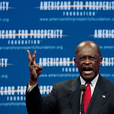 """US Republican presidential hopeful Herman Cain arrives to address the """"Defending The American Dream Summit"""" organized by the conservative Americans For Prosperity (AFP) foundation in Washington on November 4, 2011. The sex scandal engulfing Cain does not matter when picking a White House candidate, seven in 10 party supporters said in a poll published November 4.      AFP PHOTO/Nicholas KAMM (Photo credit should read NICHOLAS KAMM/AFP/Getty Images)"""