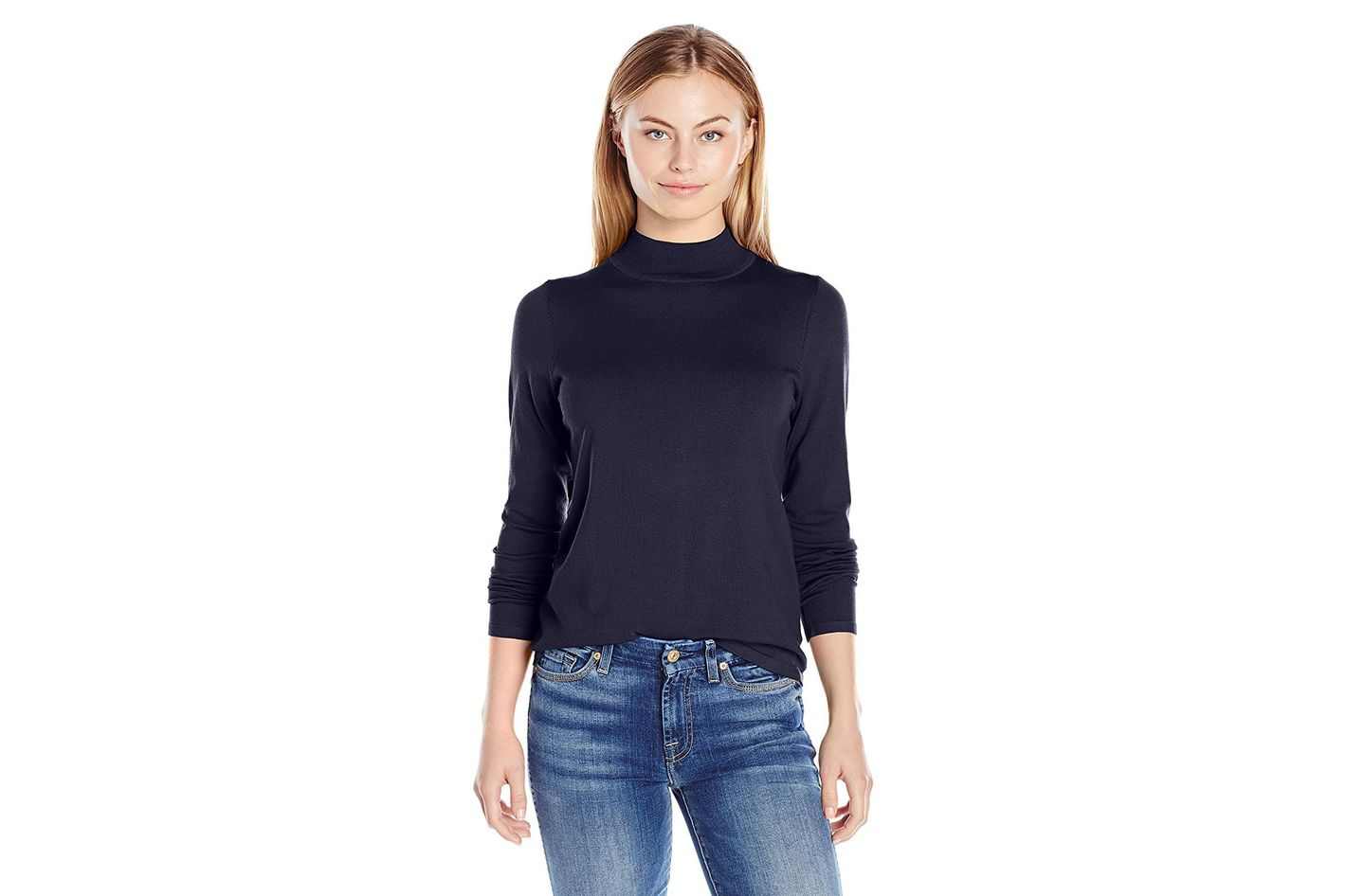 Pendleton Women's Washable Silk-Blend Mock Turtleneck Sweater