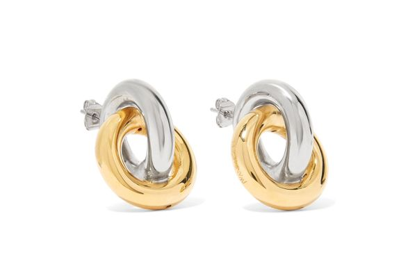 JW ANDERSON Gold and silver-plated earrings