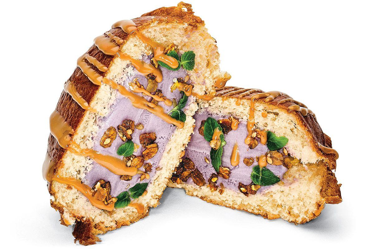 OddFellows' ube-ice-cream sandwich.