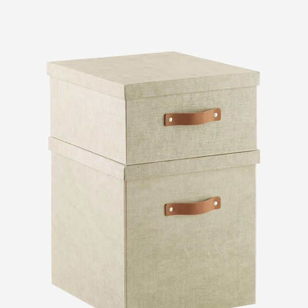 The Container Store Bigso Linen Marten Storage Cubes