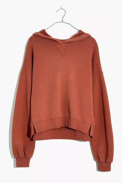Madewell MWL Airyterry Hoodie Sweatshirt (Heather Brick)