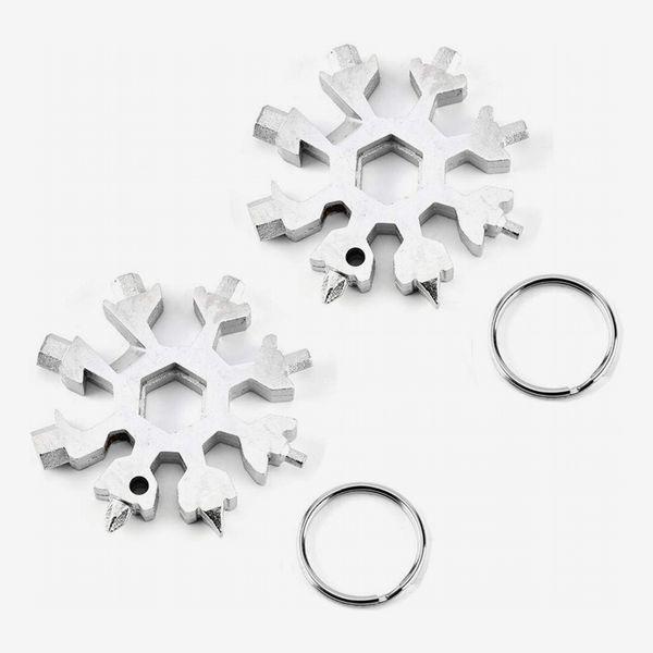 Snowflake Multi-Tool Stainless Steel Snowflake Keychain Tool