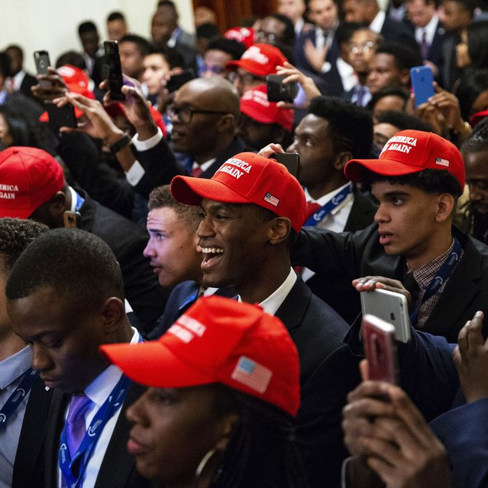 Young black conservatives gather at the Young Black Leadership Summit in Washington, D.C., in October 2018.