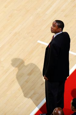 COLLEGE PARK, MD - DECEMBER 14:  Head coach Isiah Thomas of the Florida International Golden Panthers watches the game against the Maryland Terrapins at the Comcast Center on December 14, 2011 in College Park, Maryland. (Photo by G Fiume/Maryland Terrapins/Getty Images)