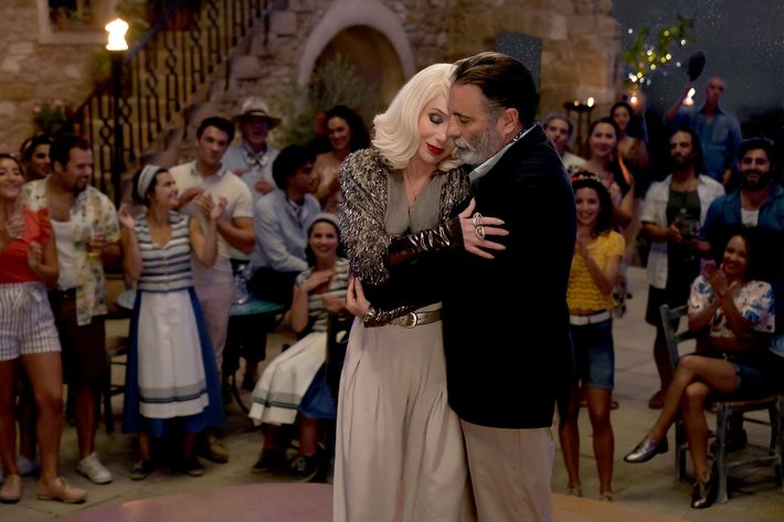 Cher and Andy Garcia in Mamma Mia.
