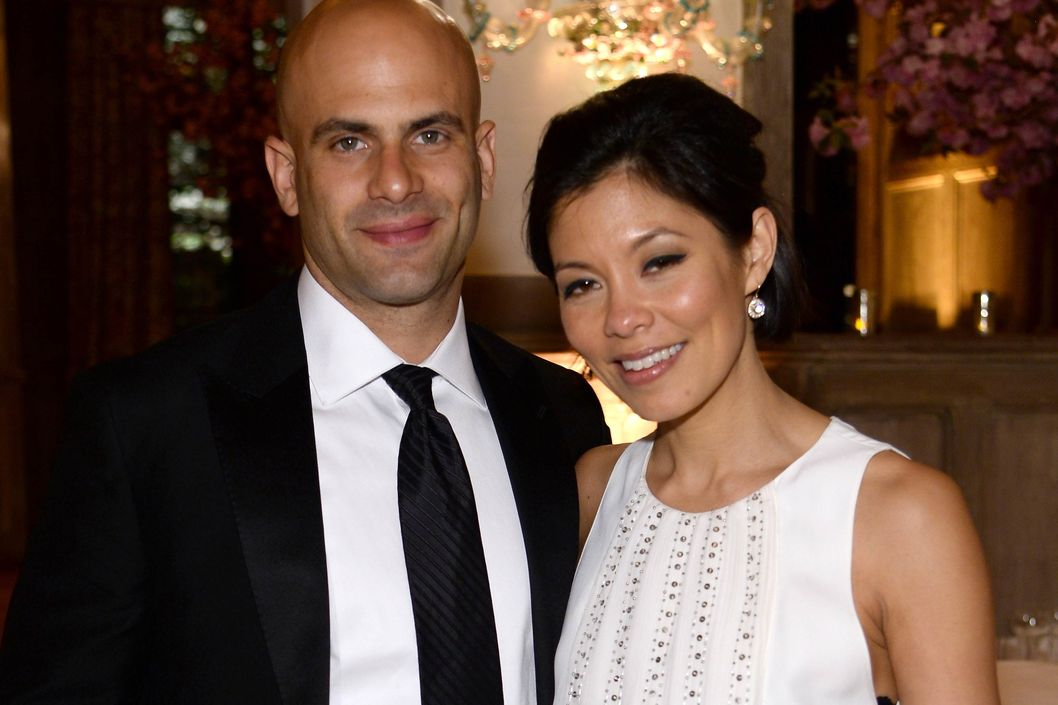 Alex Wagner with cool, Husband Sam Kass