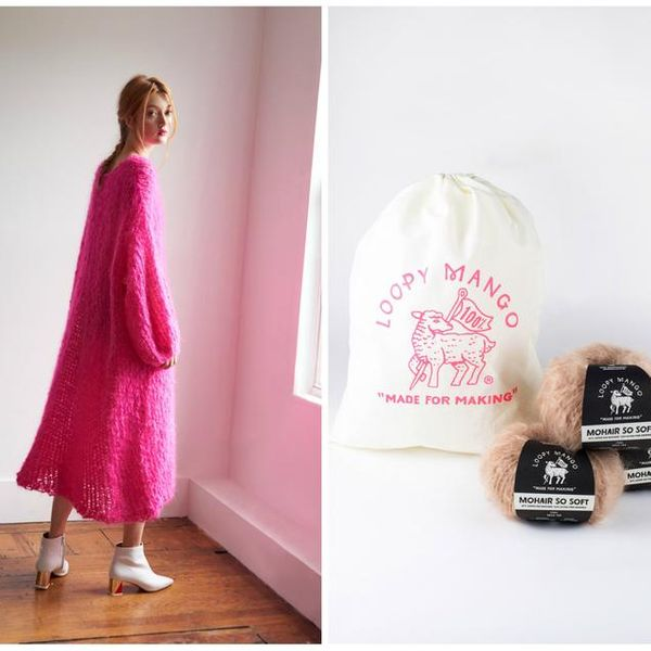 Loopy Mango Long Mohair Dress Kit