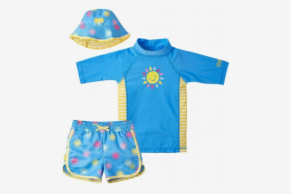 UV SKINZ UPF 50+ Girls 3-Piece Swim Set