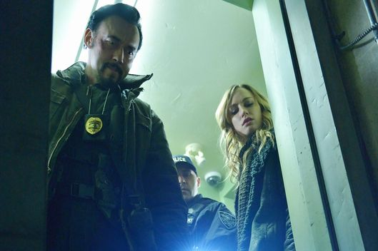 "THE STRAIN -- ""Quick and Painless"" -- Episode 205 (Airs August 9, 10:00 pm e/p) Pictured: (l-r) Kevin Durand as Vasiliy Fet, Ruta Gedmintas as Dutch Velders. CR: Michael Gibson/FX"