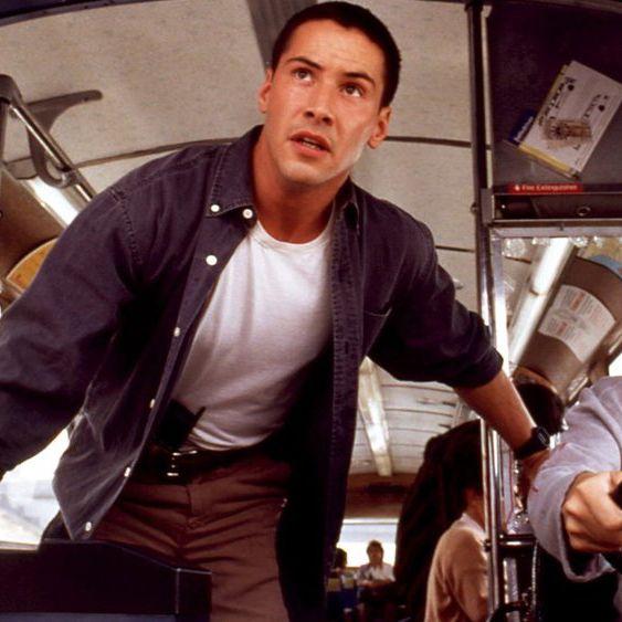Keanu Reeves and Sandra Bullock in <em>Speed</em>
