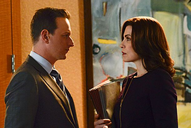 """A Precious Commodity""--Will (Josh Charles, left) needs Alicia's (Julianna Margulies, right) help when an internal conflict at the firm necessitates a vote by the partners, on THE GOOD WIFE, Sunday, Oct 13 (9:00-10:00 PM, ET/PT) on the CBS Television Network. Photo: Myles Aronowitz/CBS ©2013 CBS Broadcasting Inc. All Rights Reserved"