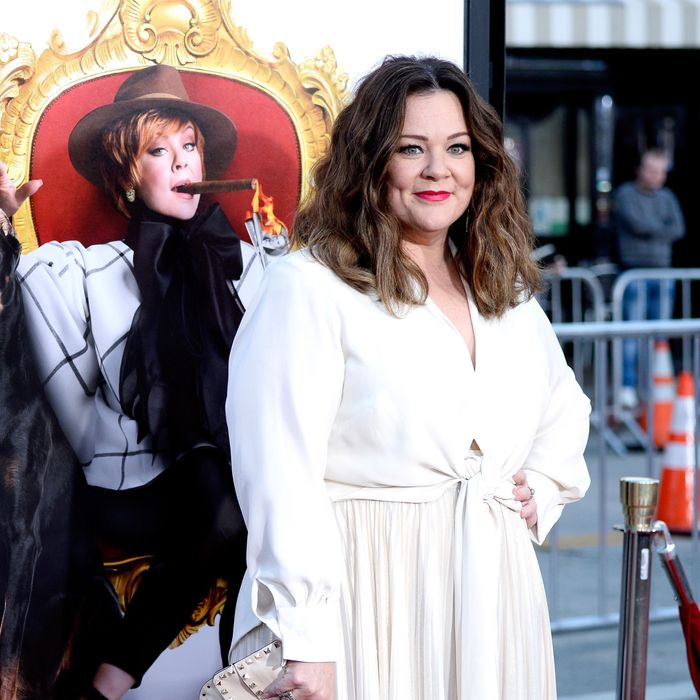 Melissa McCarthy at <i>The Boss</i> premiere.