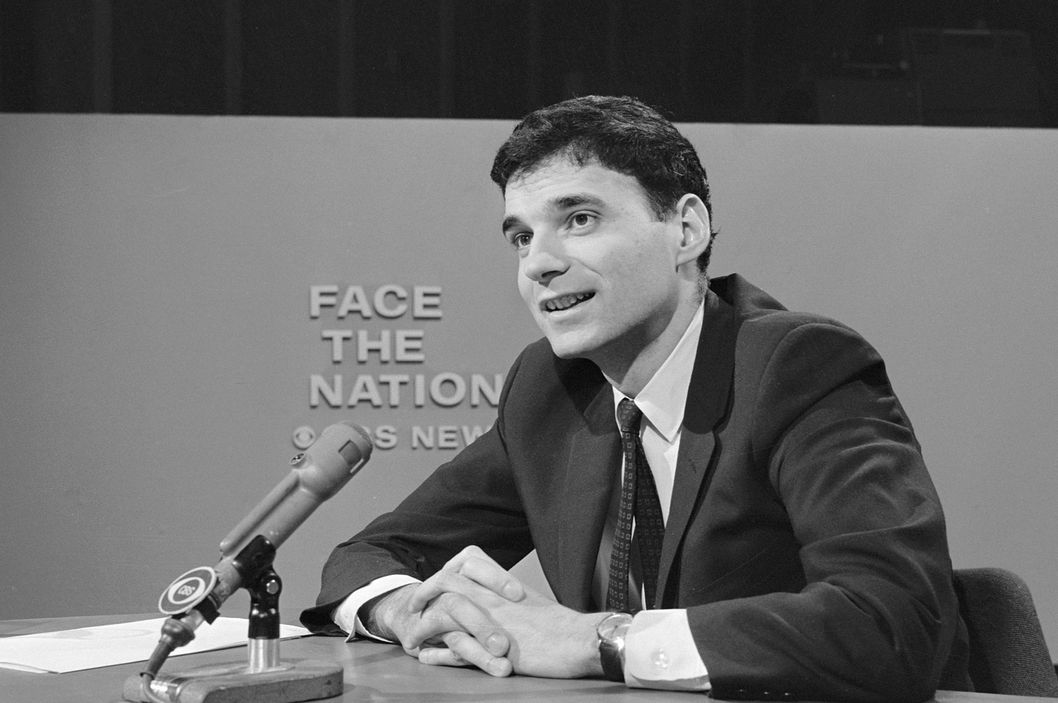 American lawyer and consumer advocate Ralph Nader appears on the television news program 'Face The Nation,' February 15, 1970.