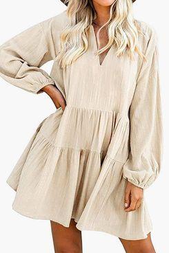 FANCYINN Women's Shift Dress with Pockets