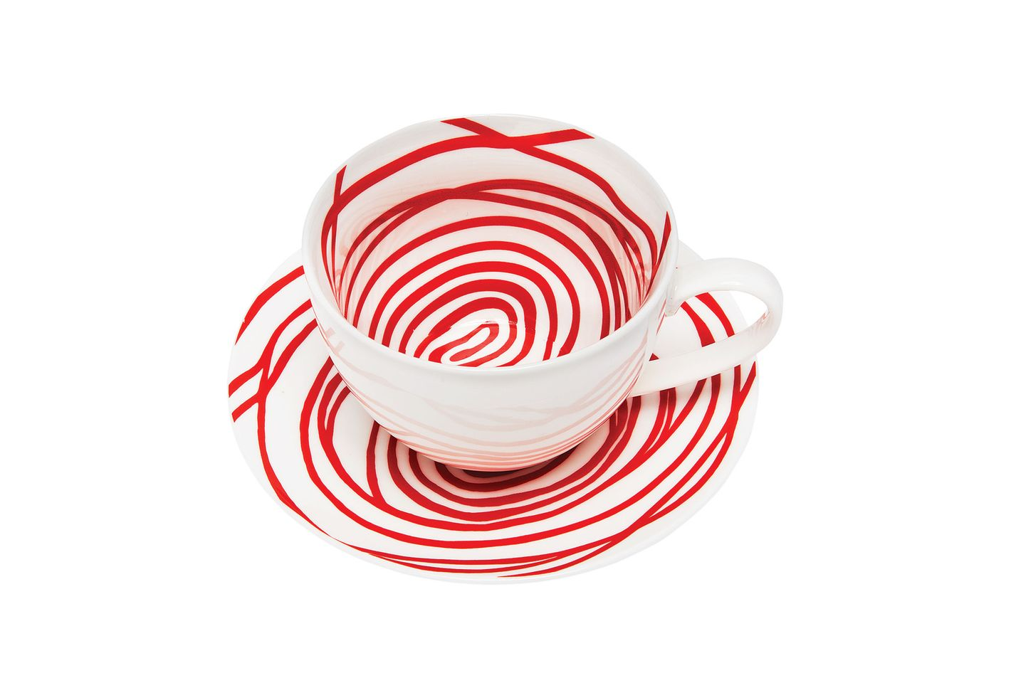 """Louise Bourgeois """"Spirals"""" teacups and saucers"""