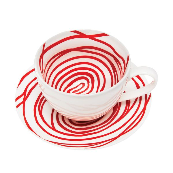 "Louise Bourgeois ""Spirals"" teacups and saucers"
