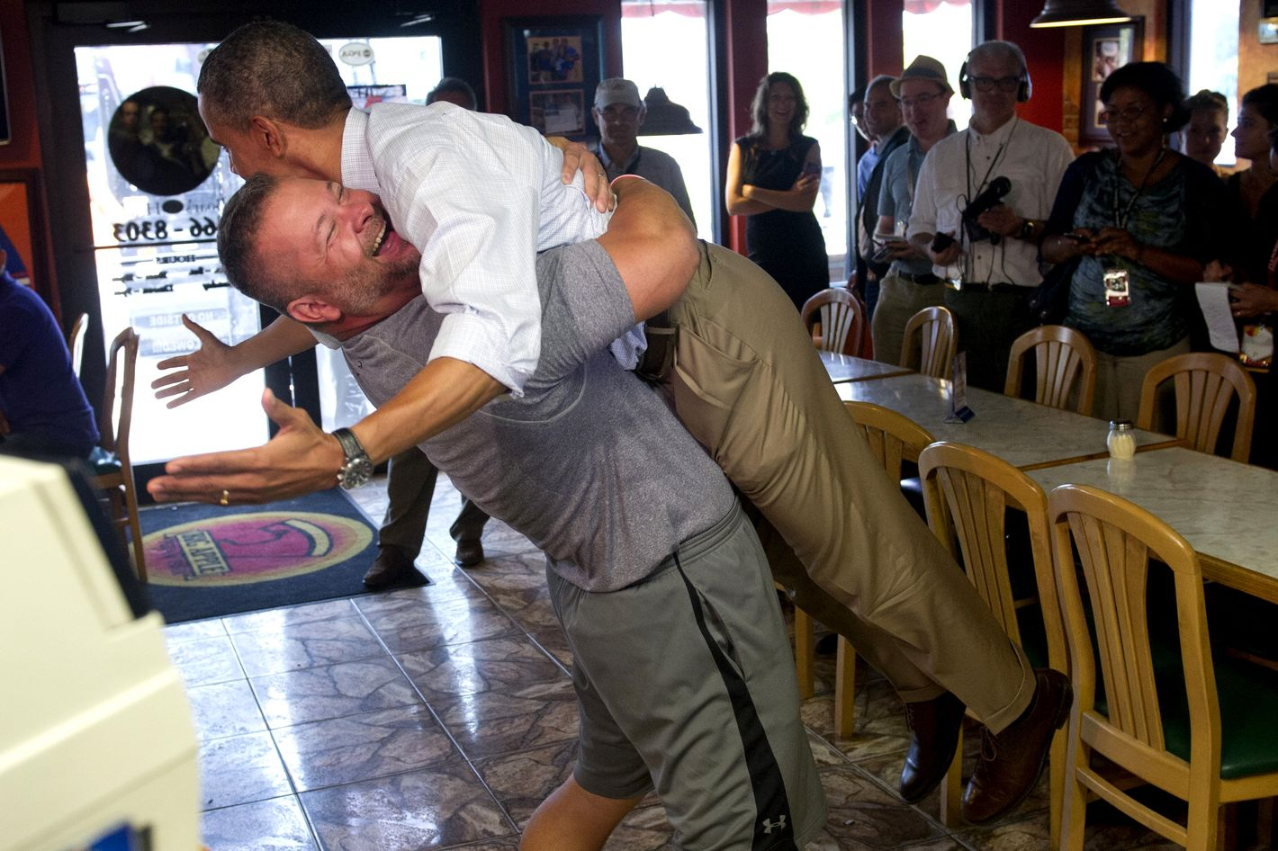 Obama's a good sport during an election year.