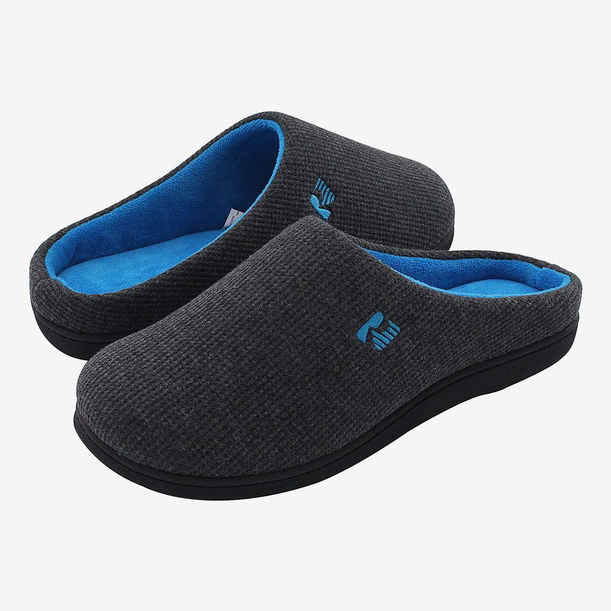 Mens Slippers Winter Relax Soft Fluffy Lightweight Easy Slip on Size S M L NEW