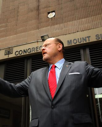 NEW YORK, NY - SEPTEMBER 10: Republican mayoral candidate Joe Lhota, former CEO of the Metropolitan Transportation Authority, speaks to the media after voting in the New York City mayoral primary on September 10, 2013 in the Brooklyn borough of New York City. Lhota is running against businessman John Catsimatidis on the Republican side. (Photo by Spencer Platt/Getty Images)