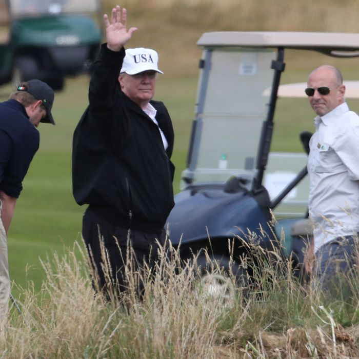 Trump Bends Rules, Uses Forbidden Golf Cart at Turnberry