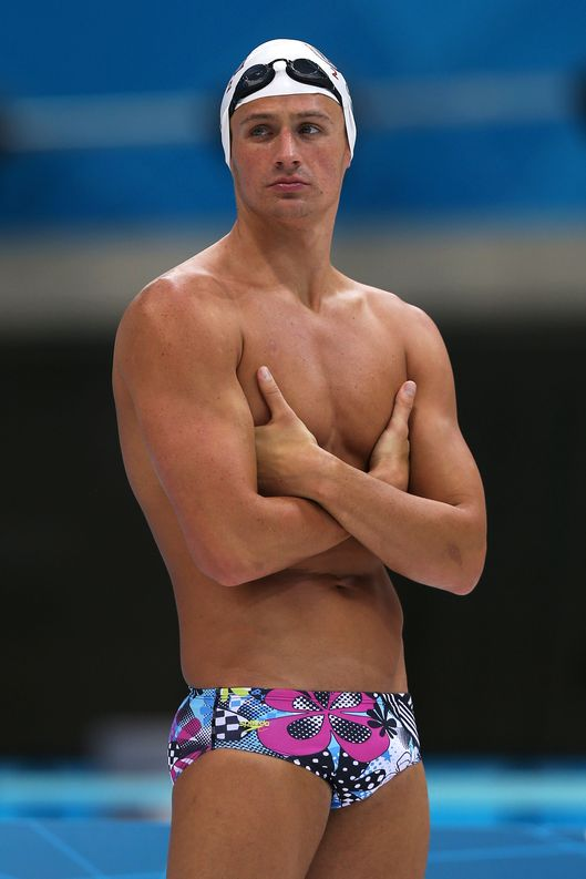Ryan Lochte of the United States looks on during a training session ahead of the London Olympic Games at the Aquatics Centre in Olympic Park on July 24, 2012 in London, England.