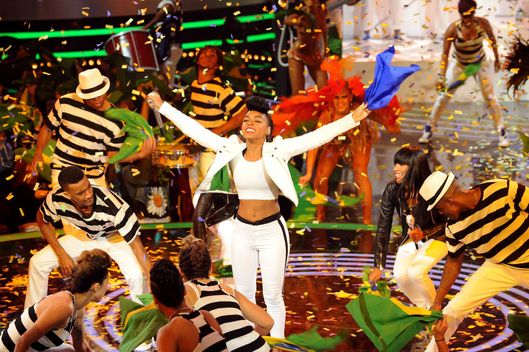 Janelle Monae performs on AMERICAN IDOL XIII airing Thursday, March 27