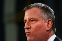 NEW YORK, NY - JANUARY 16: New York City Mayor Bill de Blasio speaks at a news conference on January 16, 2014 in New York City. In the wake of a series of recent pedestrian fatalities, the mayor announced today the