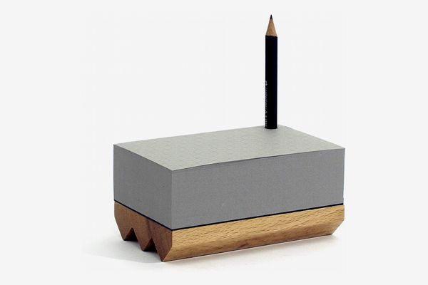 Pulp-Shop Mini Toblerono Notepad with Boxwood Base and Pencil