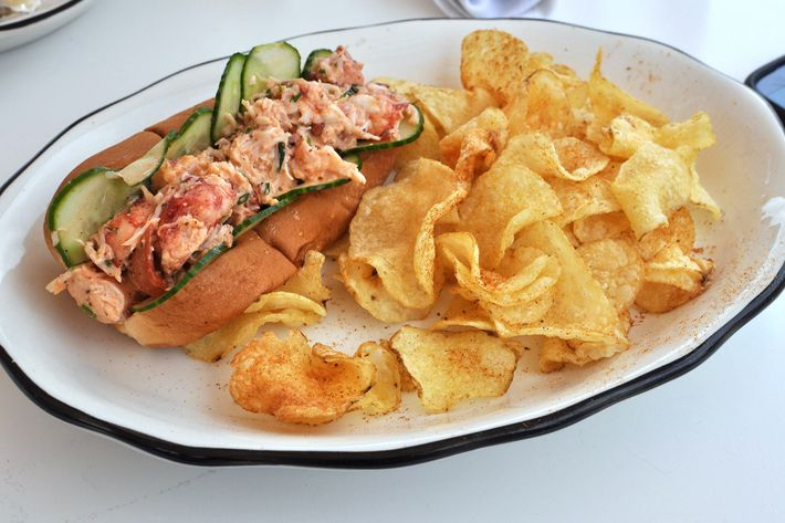 ... raw Maine lobster with some salt and bay leaves. Photo: Hugh Merwin