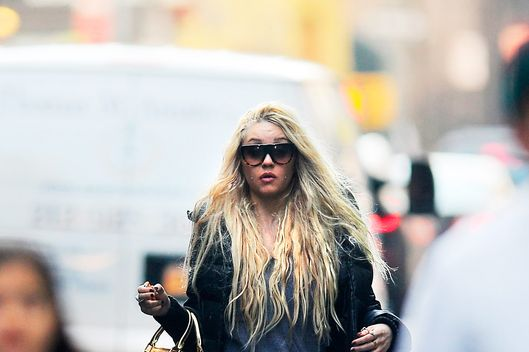 Amanda Bynes is seen in Manhattan on April 09, 2013 in New York City.