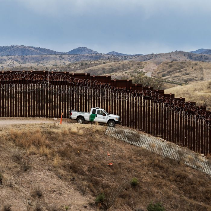 Segment of the border barrier that covers parts of the U.S.-Mexico border.