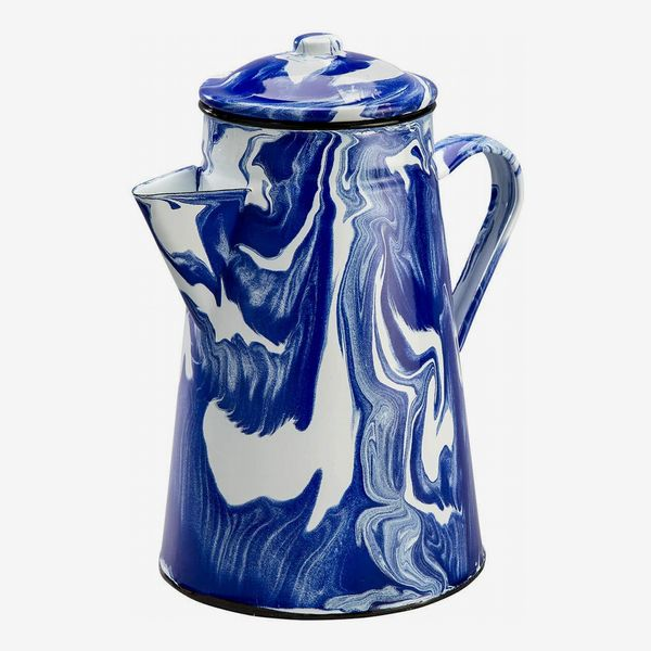 Blue Marble Enamelware Coffeepot by Home Marketplace