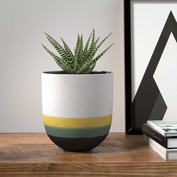 Rivet Westline Modern Hand Painted Stoneware Pot