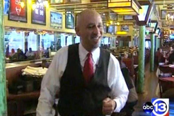 Michael Garcia at Laurenzo's Prime Rib in Houston.