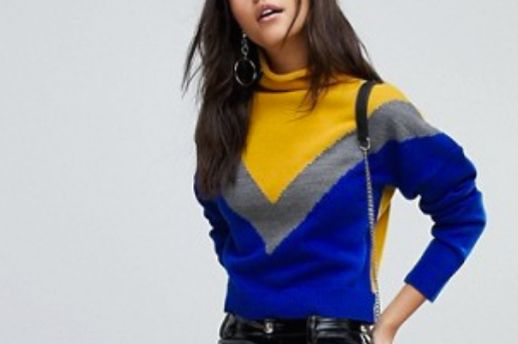 PrettyLittleThing Color Block Sweater