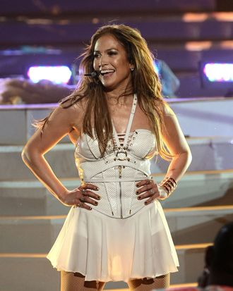 LOS ANGELES, CA - MAY 16: Singer Jennifer Lopez performs onstage during Fox's