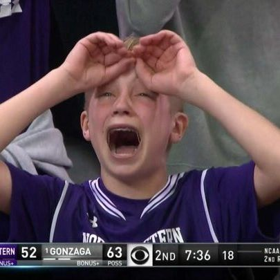 ef7a4640fcd Northwestern Fan Becomes First Crying Meme of March Madness 2017